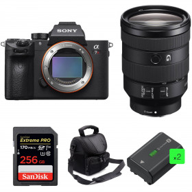 Sony ALPHA 7R III + FE 24-105 mm F4 G OSS + SanDisk 256GB Extreme PRO 170 MB/s + 2 Sony NP-FZ100 + Sac