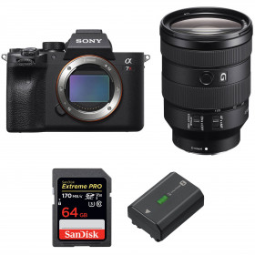 Sony ALPHA 7R IV + FE 24-105 mm F4 G OSS + SanDisk 64GB Extreme PRO UHS-I SDXC 170 MB/s + Sony NP-FZ100 | 2 Years Warranty