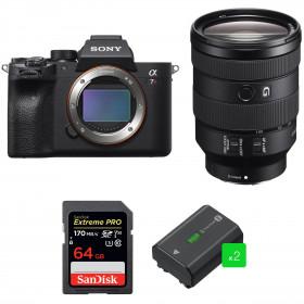 Sony ALPHA 7R IV + FE 24-105 mm F4 G OSS + SanDisk 64GB Extreme PRO UHS-I SDXC 170 MB/s + 2 Sony NP-FZ100
