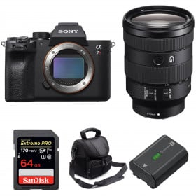Sony ALPHA 7R IV + FE 24-105 mm F4 G OSS + SanDisk 64GB Extreme PRO 170 MB/s + Sony NP-FZ100 + Bolsa