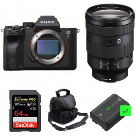 Sony ALPHA 7R IV + FE 24-105 mm F4 G OSS + SanDisk 64GB Extreme PRO 170 MB/s + 2 Sony NP-FZ100 + Bag | 2 Years Warranty