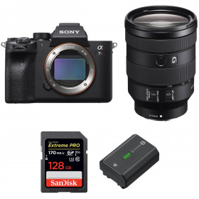 Sony ALPHA 7R IV + FE 24-105 mm F4 G OSS + SanDisk 128GB Extreme PRO UHS-I SDXC 170 MB/s + Sony NP-FZ100