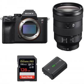 Sony ALPHA 7R IV + FE 24-105 mm F4 G OSS + SanDisk 128GB Extreme PRO UHS-I SDXC 170 MB/s + Sony NP-FZ100 | 2 Years Warranty