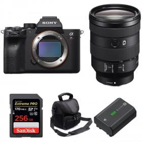 Sony ALPHA 7R IV + FE 24-105 mm F4 G OSS + SanDisk 256GB Extreme PRO 170 MB/s + Sony NP-FZ100 + Bolsa