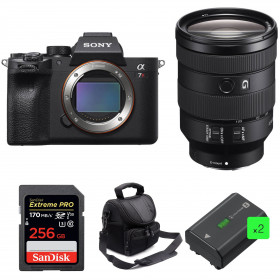Sony ALPHA 7R IV + FE 24-105 mm F4 G OSS + SanDisk 256GB Extreme PRO 170 MB/s + 2 Sony NP-FZ100 + Bag | 2 Years Warranty