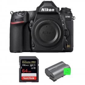 Nikon D780 Cuerpo + SanDisk 64GB Extreme PRO UHS-I SDXC 170 MB/s + 2 Nikon EN-EL15b
