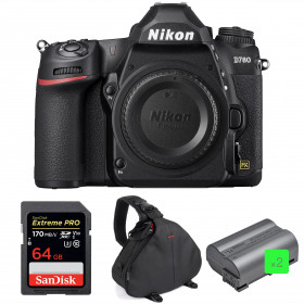 Nikon D780 Nu + SanDisk 64GB Extreme PRO UHS-I SDXC 170 MB/s + 2 Nikon EN-EL15b + Sac