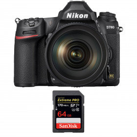 Nikon D780 + 24-120mm f/4G ED VR + SanDisk 64GB Extreme PRO UHS-I SDXC 170 MB/s + 2 Nikon EN-EL15b