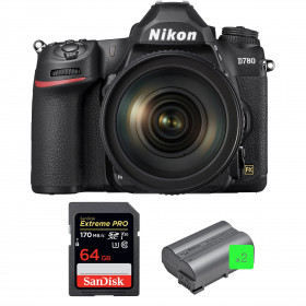 Nikon D780 + 24-120mm f/4G ED VR + SanDisk 64GB Extreme PRO UHS-I SDXC 170 MB/s + 2 Nikon EN-EL15b | 2 years Warranty
