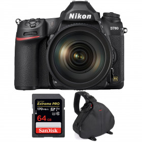 Nikon D780 + 24-120mm f/4G ED VR + SanDisk 64GB Extreme PRO UHS-I SDXC 170 MB/s + Bag | 2 years Warranty
