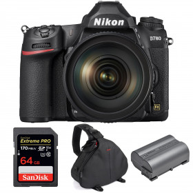 Nikon D780 + 24-120mm f/4G ED VR + SanDisk 64GB Extreme PRO UHS-I SDXC 170 MB/s + Nikon EN-EL15b + Bolsa