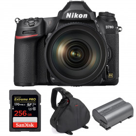 Nikon D780 + 24-120mm f/4G ED VR + SanDisk 256GB Extreme PRO UHS-I SDXC 170 MB/s + Nikon EN-EL15b + Sac