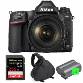 Nikon D780 + 24-120mm f/4G ED VR + SanDisk 256GB Extreme PRO UHS-I SDXC 170 MB/s + 2 Nikon EN-EL15b + Bolsa