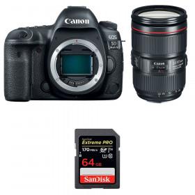 Canon EOS 5D Mark IV + EF 24-105mm f/4L IS II USM + SanDisk 64GB Extreme PRO UHS-I SDXC 170 MB/s | 2 años de garantía