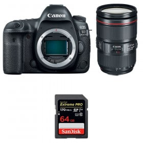 Canon EOS 5D Mark IV + EF 24-105mm f/4L IS II USM + SanDisk 64GB Extreme PRO UHS-I SDXC 170 MB/s | 2 Years Warranty