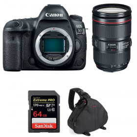 Canon EOS 5D Mark IV + EF 24-105mm f/4L IS II USM + SanDisk 64GB Extreme PRO UHS-I SDXC 170 MB/s + Bag | 2 Years Warranty