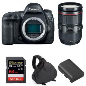 Canon EOS 5D Mark IV + EF 24-105mm f/4L IS II USM + SanDisk 64GB UHS-I SDXC 170 MB/s + LP-E6N + Bolsa | 2 años de garantía