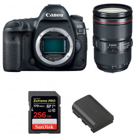 Canon EOS 5D Mark IV + EF 24-105mm f/4L IS II USM + SanDisk 256GB Extreme PRO UHS-I SDXC 170 MB/s + LP-E6N | 2 años de garantía