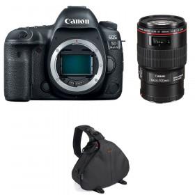 Canon EOS 5D Mark IV + EF 100mm f/2.8L Macro IS USM + Bag | 2 Years Warranty