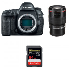 Canon EOS 5D Mark IV + EF 100mm f/2.8L Macro IS USM + SanDisk 64GB Extreme PRO UHS-I SDXC 170 MB/s | 2 Years Warranty