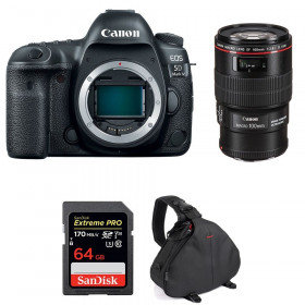 Canon EOS 5D Mark IV + EF 100mm f/2.8L Macro IS USM + SanDisk 64GB Extreme PRO UHS-I SDXC 170 MB/s + Bag | 2 Years Warranty