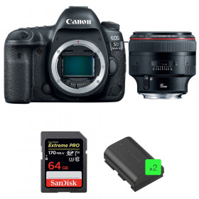 Canon EOS 5D Mark IV + EF 85mm f/1.2L II USM + SanDisk 64GB Extreme PRO UHS-I SDXC 170 MB/s + 2 LP-E6N | 2 Years Warranty