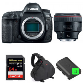Canon EOS 5D Mark IV + EF 85mm f/1.2L II USM + SanDisk 64GB UHS-I SDXC 170 MB/s + 2 LP-E6N + Bolsa