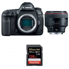 Canon EOS 5D Mark IV + EF 85mm f/1.2L II USM + SanDisk 128GB Extreme PRO UHS-I SDXC 170 MB/s | 2 Years Warranty