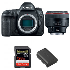 Canon EOS 5D Mark IV + EF 85mm f/1.2L II USM + SanDisk 128GB Extreme PRO UHS-I SDXC 170 MB/s + LP-E6N | 2 Years Warranty