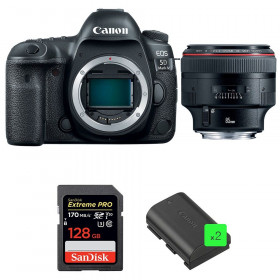Canon EOS 5D Mark IV + EF 85mm f/1.2L II USM + SanDisk 128GB Extreme PRO UHS-I SDXC 170 MB/s + 2 LP-E6N | 2 Years Warranty