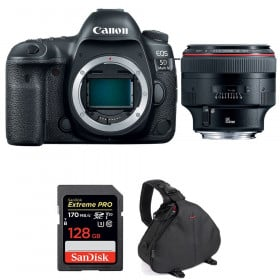 Canon EOS 5D Mark IV + EF 85mm f/1.2L II USM + SanDisk 128GB Extreme PRO UHS-I SDXC 170 MB/s + Bag | 2 Years Warranty