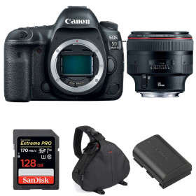 Canon EOS 5D Mark IV + EF 85mm f/1.2L II USM + SanDisk 128GB UHS-I SDXC 170 MB/s + LP-E6N + Bag | 2 Years Warranty