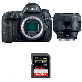 Canon EOS 5D Mark IV + EF 85mm f/1.2L II USM + SanDisk 256GB Extreme PRO UHS-I SDXC 170 MB/s | 2 Years Warranty