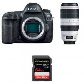 Canon EOS 5D Mark IV + EF 100-400mm f4.5-5.6L IS II USM + SanDisk 64GB Extreme PRO UHS-I SDXC 170 MB/s | 2 Years Warranty