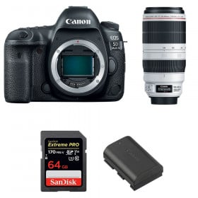 Canon EOS 5D Mark IV + EF 100-400mm f4.5-5.6L IS II USM + SanDisk 64GB UHS-I SDXC 170 MB/s + LP-E6N | 2 Years Warranty
