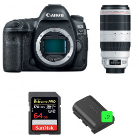 Canon EOS 5D Mark IV + EF 100-400mm f4.5-5.6L IS II USM + SanDisk 64GB UHS-I SDXC 170 MB/s + 2 LP-E6N | 2 Years Warranty