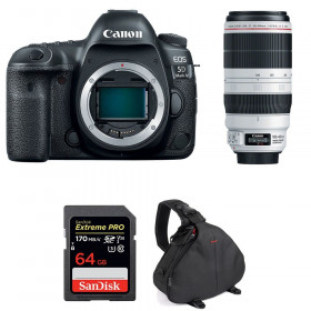 Canon EOS 5D Mark IV + EF 100-400mm f4.5-5.6L IS II USM + SanDisk 64GB UHS-I SDXC 170 MB/s + Bag | 2 Years Warranty