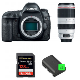 Canon EOS 5D Mark IV + EF 100-400mm f4.5-5.6L IS II USM + SanDisk 128GB UHS-I SDXC 170 MB/s + 2 LP-E6N | 2 Years Warranty