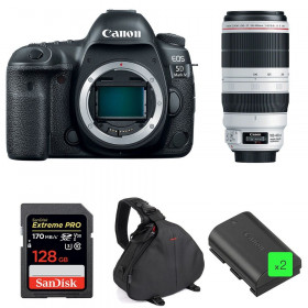 Canon EOS 5D Mark IV + EF 100-400mm f4.5-5.6L IS II USM + SanDisk 128GB SDXC 170 MB/s + 2 LP-E6N + Sac