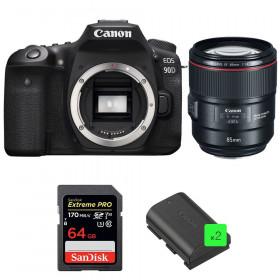 Canon EOS 90D + EF 85mm f/1.4L IS USM + SanDisk 64GB Extreme PRO UHS-I SDXC 170 MB/s + 2 LP-E6N