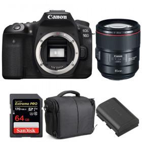 Canon EOS 90D + EF 85mm f/1.4L IS USM + SanDisk 64GB UHS-I SDXC 170 MB/s + LP-E6N + Sac