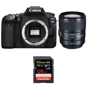 Canon EOS 90D + EF 85mm f/1.4L IS USM + SanDisk 128GB Extreme PRO UHS-I SDXC 170 MB/s | 2 Years Warranty