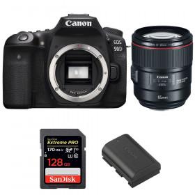 Canon EOS 90D + EF 85mm f/1.4L IS USM + SanDisk 128GB Extreme PRO UHS-I SDXC 170 MB/s + LP-E6N