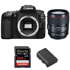 Canon EOS 90D + EF 85mm f/1.4L IS USM + SanDisk 256GB Extreme PRO UHS-I SDXC 170 MB/s + LP-E6N