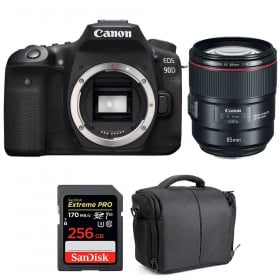 Canon EOS 90D + EF 85mm f/1.4L IS USM + SanDisk 256GB Extreme PRO UHS-I SDXC 170 MB/s + Bag | 2 Years Warranty