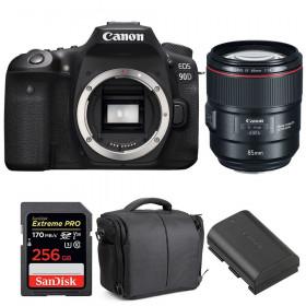 Canon EOS 90D + EF 85mm f/1.4L IS USM + SanDisk 256GB UHS-I SDXC 170 MB/s + LP-E6N + Sac