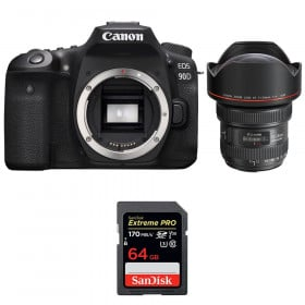 Canon EOS 90D + EF 11-24mm f/4L USM + SanDisk 64GB Extreme PRO UHS-I SDXC 170 MB/s | 2 Years Warranty