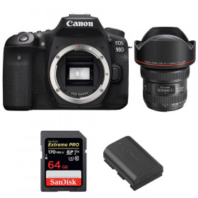 Canon EOS 90D + EF 11-24mm f/4L USM + SanDisk 64GB Extreme PRO UHS-I SDXC 170 MB/s + LP-E6N | 2 Years Warranty