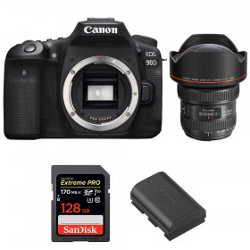 Canon EOS 90D + EF 11-24mm f/4L USM + SanDisk 128GB Extreme PRO UHS-I SDXC 170 MB/s + LP-E6N | 2 Years Warranty