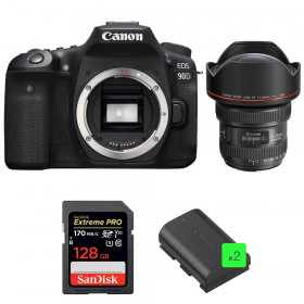 Canon EOS 90D + EF 11-24mm f/4L USM + SanDisk 128GB Extreme PRO UHS-I SDXC 170 MB/s + 2 LP-E6N | 2 Years Warranty